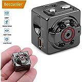 1080P Caméra de Sécurité Camera Espion Portable Détection de Mouvement Caméscope Surveillance Vidéo IR Vision Nocturne Enregistrement en Boucle Mini Caméra Caméra de Surveillance Noir Caméra Cachée