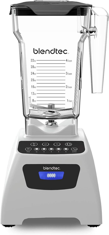 Blendtec Classic 575 Blender - WildSide+ Jar (90 oz) - Professional-Grade Power - Self-Cleaning - 4 Pre-programmed Cycles - 5-Speeds - Polar White (Renewed)