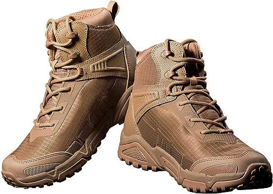 FREE SOLDIER Botas de Escalada Impermeable Tacticas Hombre Botas Militares Transpirables Botas de Seguridad Hombre Trabajo Ligeros Zapatos de Montaña ...