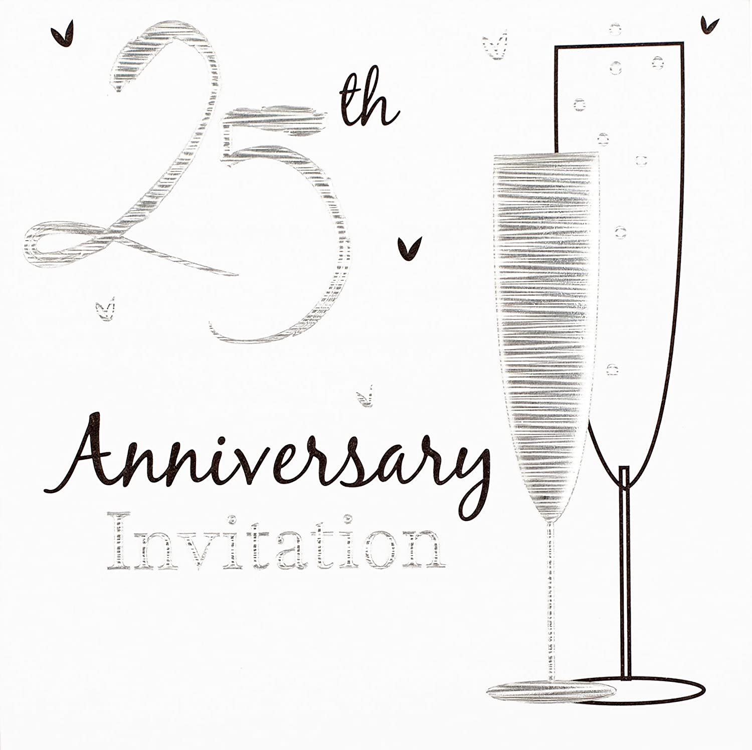 Super 25th Silver Wedding Anniversary Party Invitations {Holographic} 36  AK93