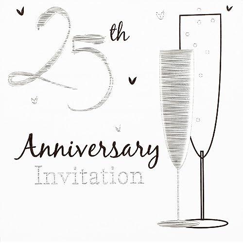Silver Wedding Invitations Amazon: Silver Wedding Invitations: Amazon.co.uk