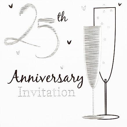 abbastanza Biglietti di invito per den 25. anniversario di matrimonio/nozze d  XL11