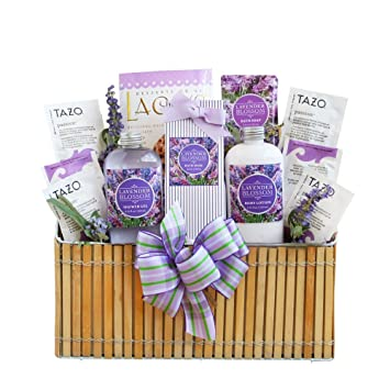 relaxation spa gift basket for lavender grocery
