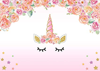 Amazon Mehofoto Photography Backdrops Cute Cartoon Unicorn Pink
