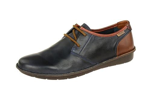 Santiago M7b, Zapatos de Cordones Oxford para Hombre, Azul (Navy Blue), 39 EU Pikolinos