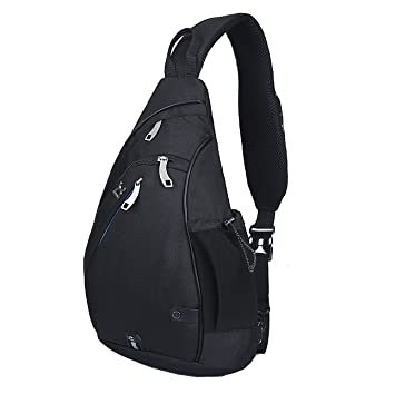 Amazon.com : Pioneeryao® sling bag backpack pack (Black) : Sports ...