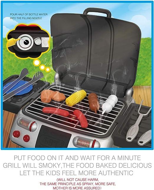 Rolanli Barbecue Jouet, Electrique Barbecue Grill Jouet Jeu