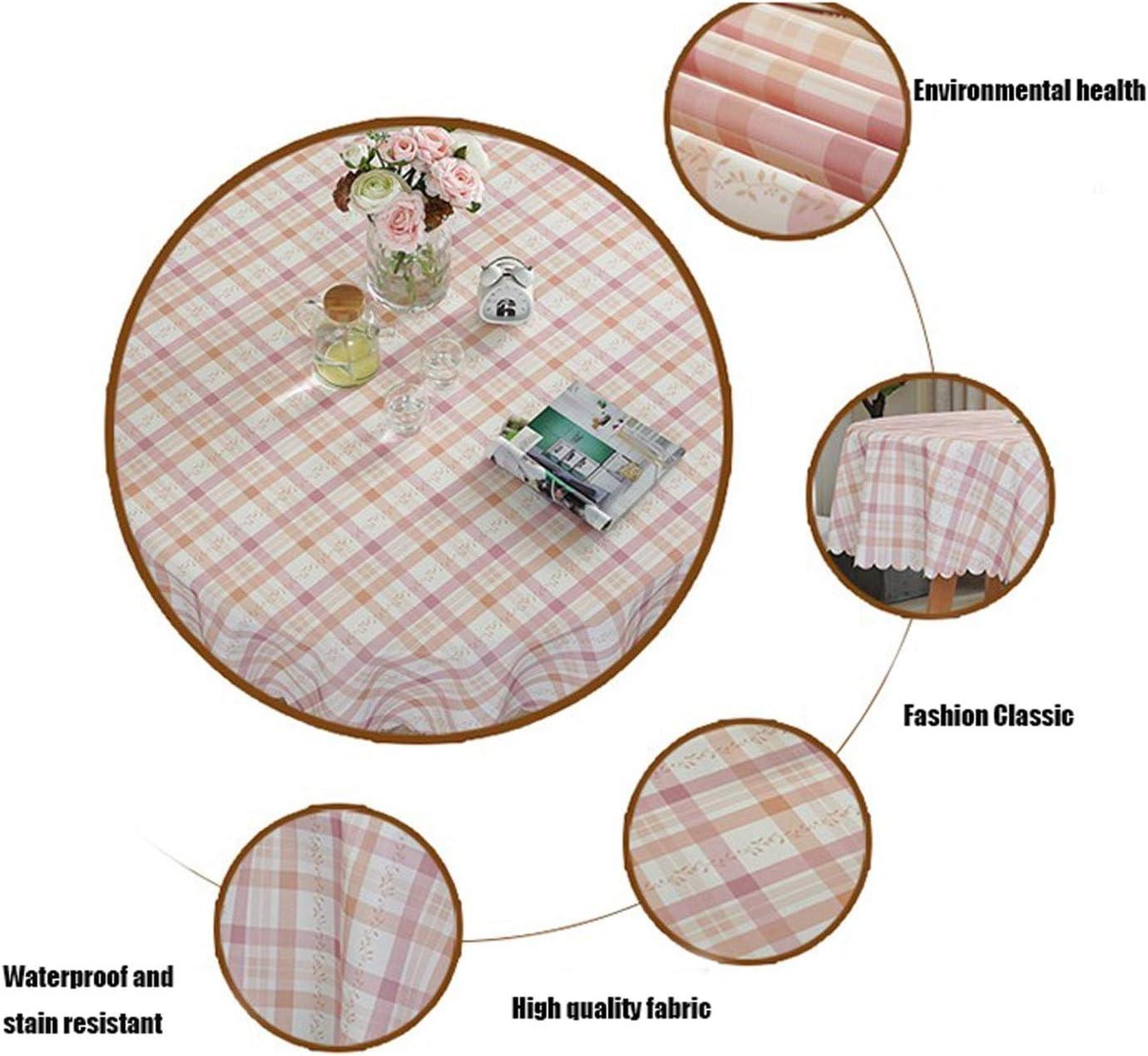 h/ôtel CLL-zb Nappe Ronde europ/éenne pour Table Ronde de conf/érence 220cm in Diameter Salon Polyester comptoir Banquet Bleu