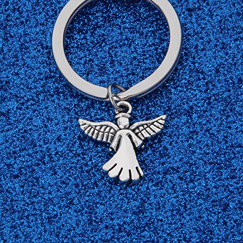 WUSUANED Traveller Keychain Gift May Angels Fly with You Wherever You Roam Bring You Back Safely to Family and Home (Angels Fly with You Keychain)