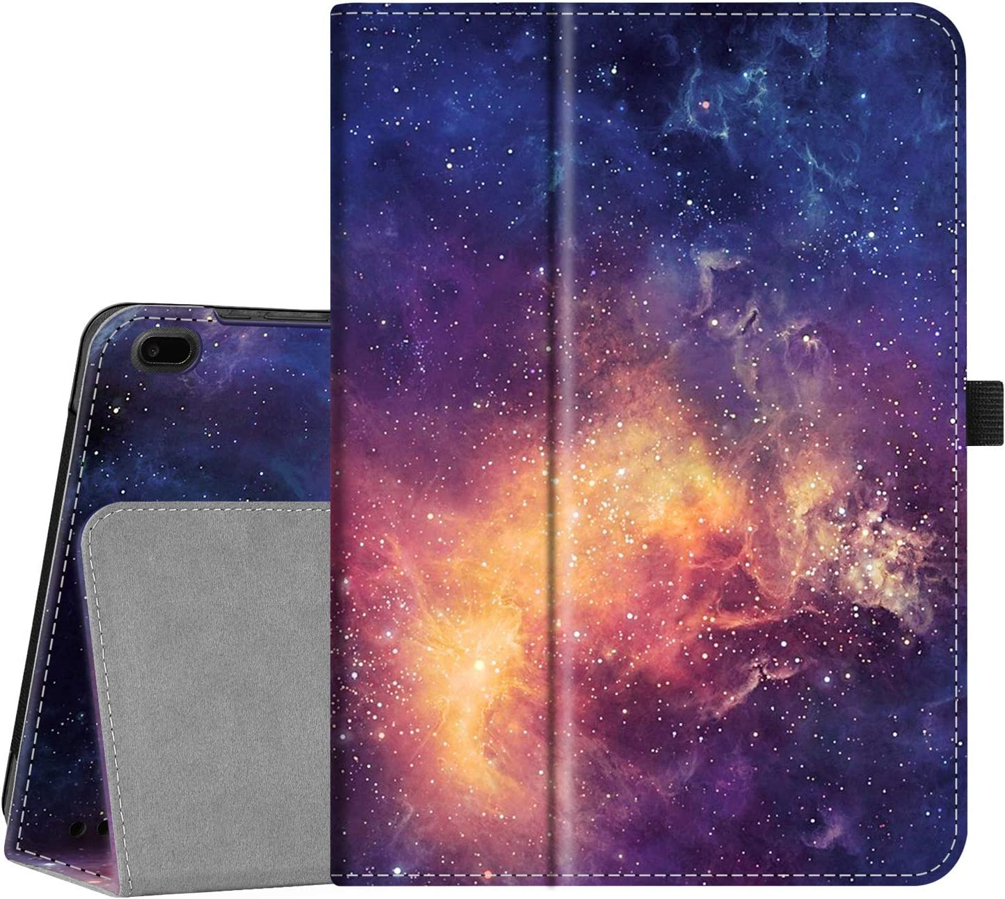 Fintie Case for Onn 10.1 inch Tablet, Premium Vegan Leather Folio Protective Stand Cover with Pencil Holder (Galaxy)