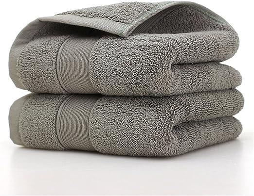 loiofoe 100% algodón egipcio juego de toallas de lujo super suave familia Set Juego de toallas de hotel (absorbente y toalla de baño (secado rápido), gris, 4x Hand Towels: Amazon.es: Hogar