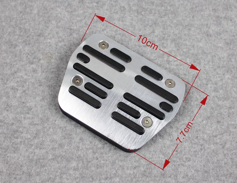 Generic Drill-Free Aluminum Foot Rest Fuel Accelerate Brake AT Pedals For Nissan X-trail Rogue 2014 2015 2016 2017 by Generic (Image #3)