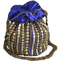 Designer Potli Bag with Beadwork For Women Silk Fabric Standard Size Single Bag