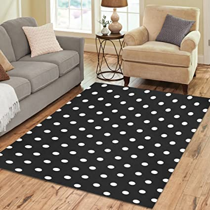 Charmant InterestPrint Black And White Polka Dot Area Rug 7 X 5 Feet, Kids Modern  Carpet