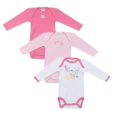 9c60630c6f7c4 Absorba Underwear, Body Bébé Fille,Lot de 3,Rose (Camelia 30 cm) , 6 Mois ( Taille Fabricant: 68 cm): Amazon.fr: Vêtements et accessoires