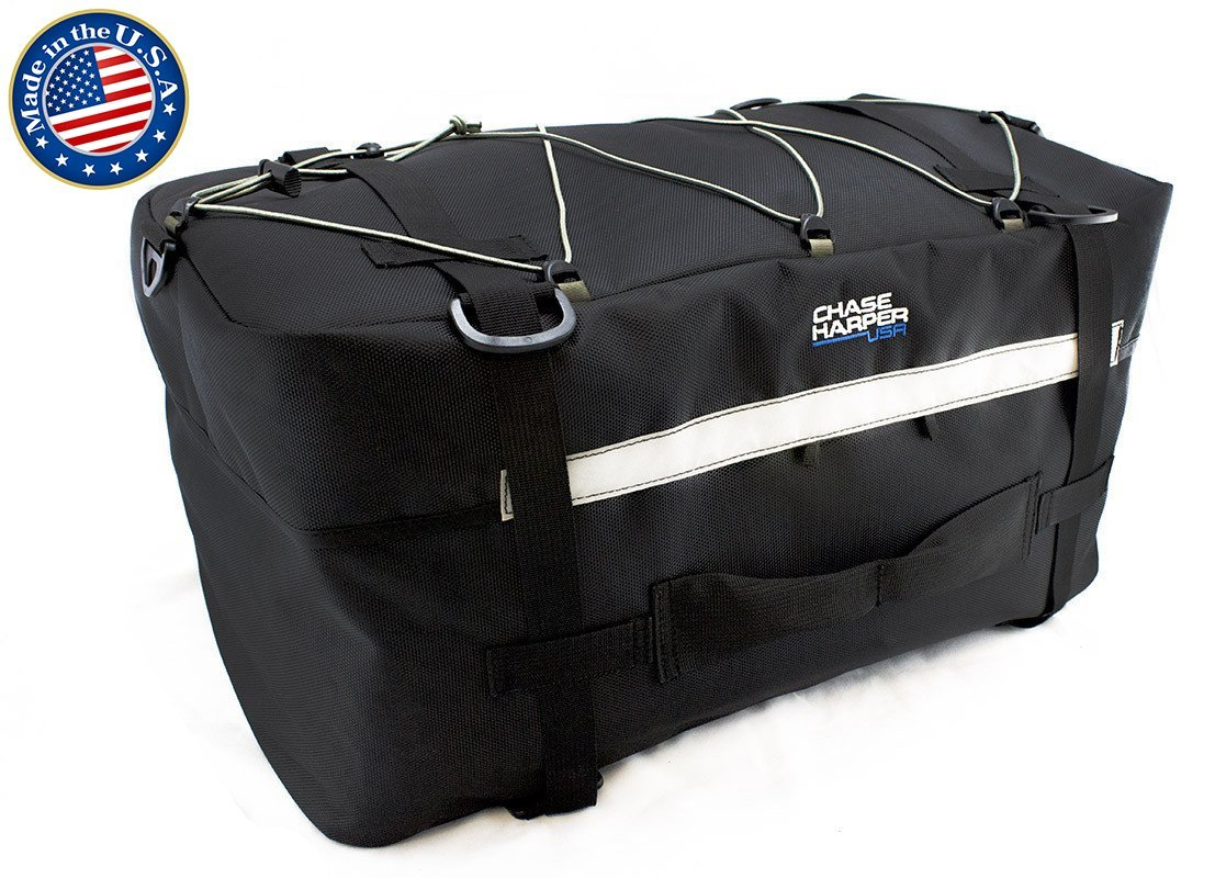 Chase Harper 4100 B'Alaska Tail Trunk - Water-Resistant, Tear-Resistant, Industrial Grade Ballistic Nylon with Adjustable Cinch Strap Mounting System for Universal Fit, 37.7 Liters of Storage - 21''L x 12''W x 9''H