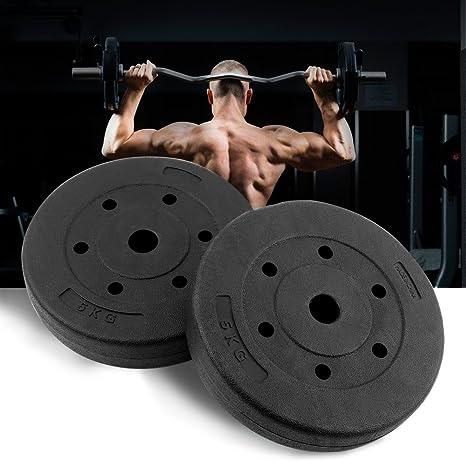 GOTOTOP 2 x Discos de 5 kg Entrenamiento Peso Placas Placa de ...