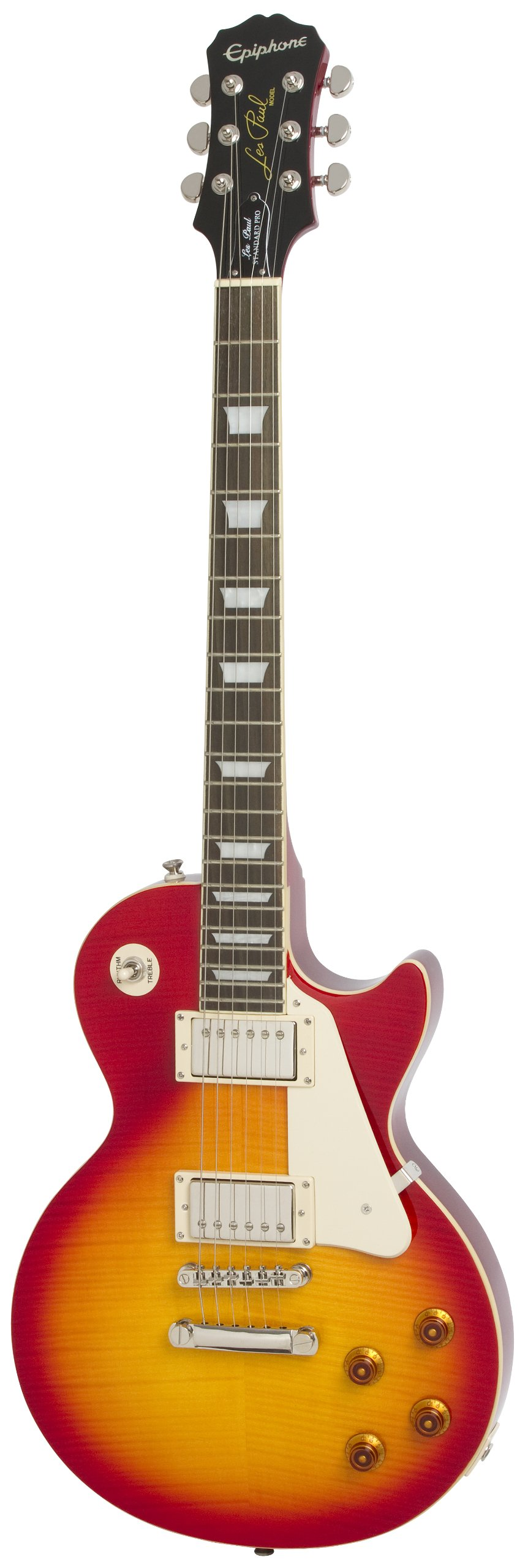 Epiphone Les Paul STANDARD PLUS-TOP PRO Electric Guitar with Coil-Tapping, Heritage Cherry Sunburst