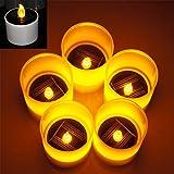 Weanas 5pcs Solar Power LED Light Candles
