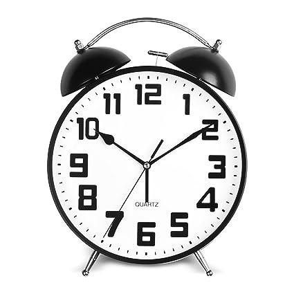 Jack Mall- Gran tamaño de la creatividad de dibujos animados reloj de alarma preciosa nNoctilucent