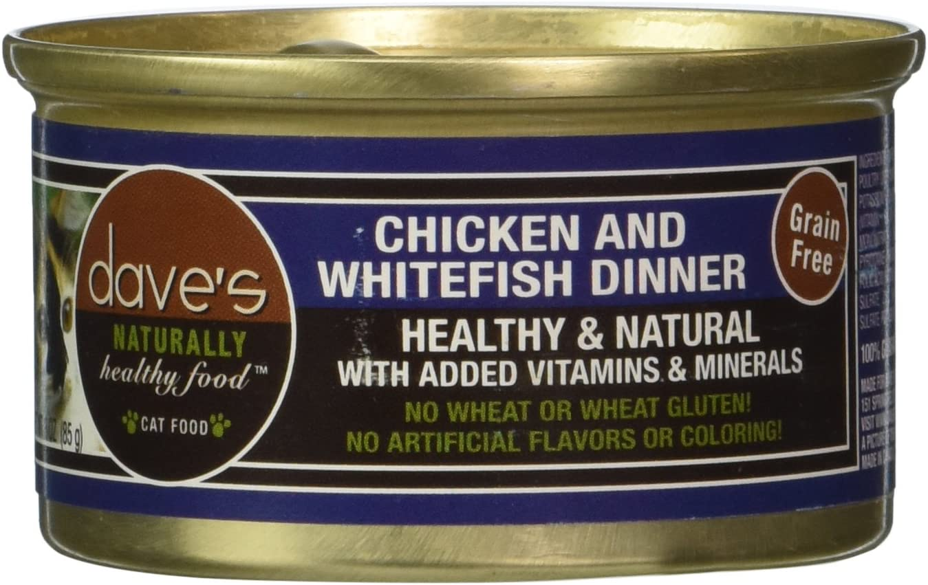 Dave's Pet Food Chicken and Whitefish Food (24 Cans Per Case)