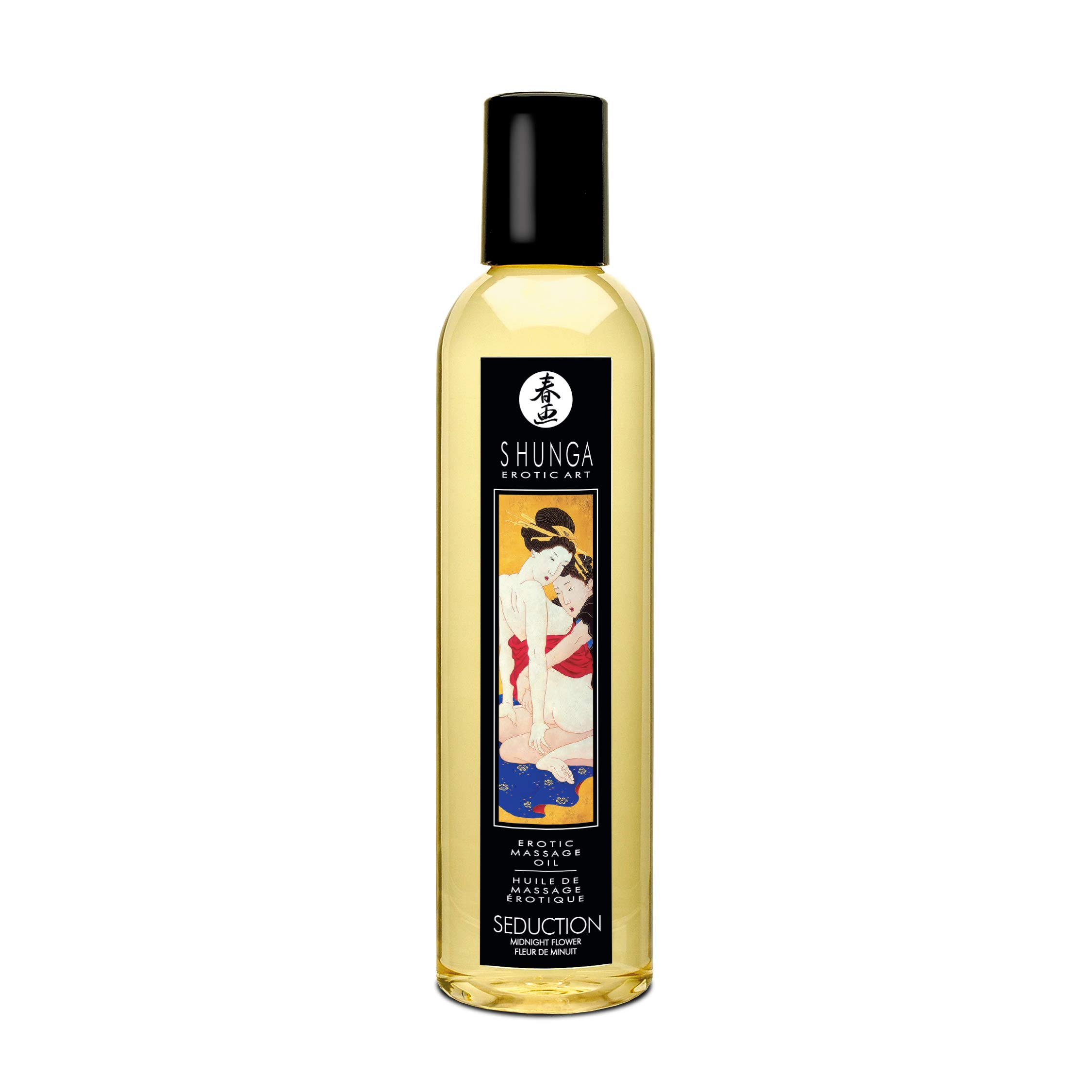 Shunga Erotic Massage Oil 8.4 Fluid Ounces (Asian Midnight Flower Seduction) by Shunga Erotic Art