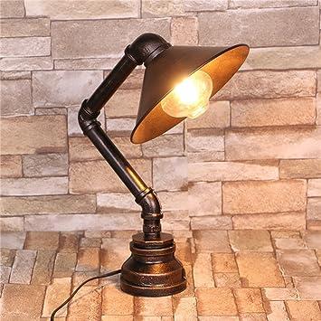 Lámpara De Mesa De Bronce Antiguo De Hierro Forjado Bar ...