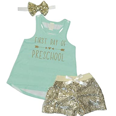 Image Unavailable. Image not available for. Color  Preschool Shirt Girl Back  to School Outfits ... 0927a06a76