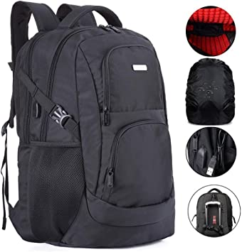 ILEEY Refuse to Lower Standards Casual Backpack School Bag Computer Book Bag Travel Hiking Camping Daypack for Girls Boys Men and Women