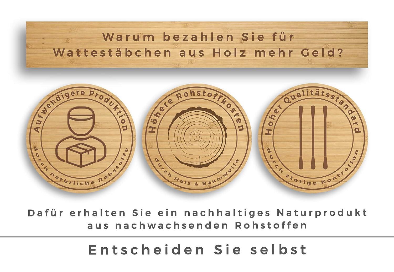 100/% biodegradabili; sostenibili ed ecologici. 200 bastoncini di cotton fioc in legno di Feel Good State Big Pack