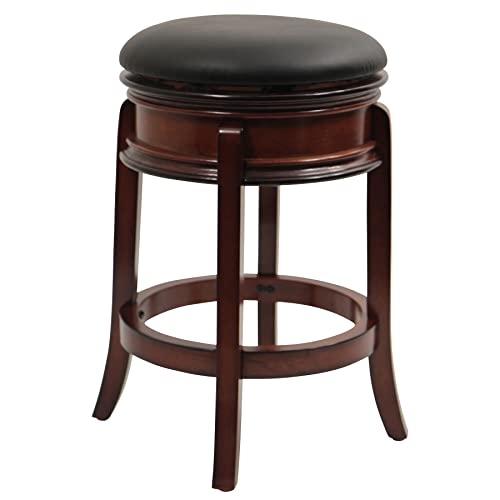Boraam Magellan Counter Height Swivel Stool, 24-Inch, Brandy