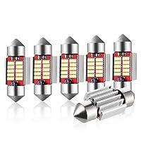 Audew Kennzeichenbeleuchtung Lampen Soffitte Lampen Leseleuchte LED Auto Innenbeleuchtung Xenon Weiß Canbus Fehlerlose 12*4014 SMD 6*31mm/36mm 31