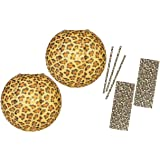 Outside the Box Papers 14 Inch Leopard Print Paper Lanterns and Paper Drinking Straws- 2 Pk of Lanterns 50 Straws