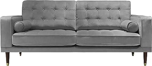 New Classic Furniture Lana Gray Mid-Century Modern Sofa