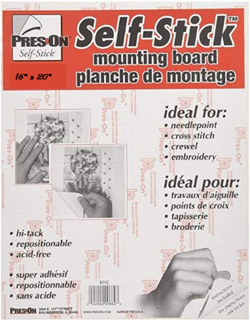 Bulk Buy B16 Pres-On Mounting Board, 16 by 20, (6 Pack) by Pres-On