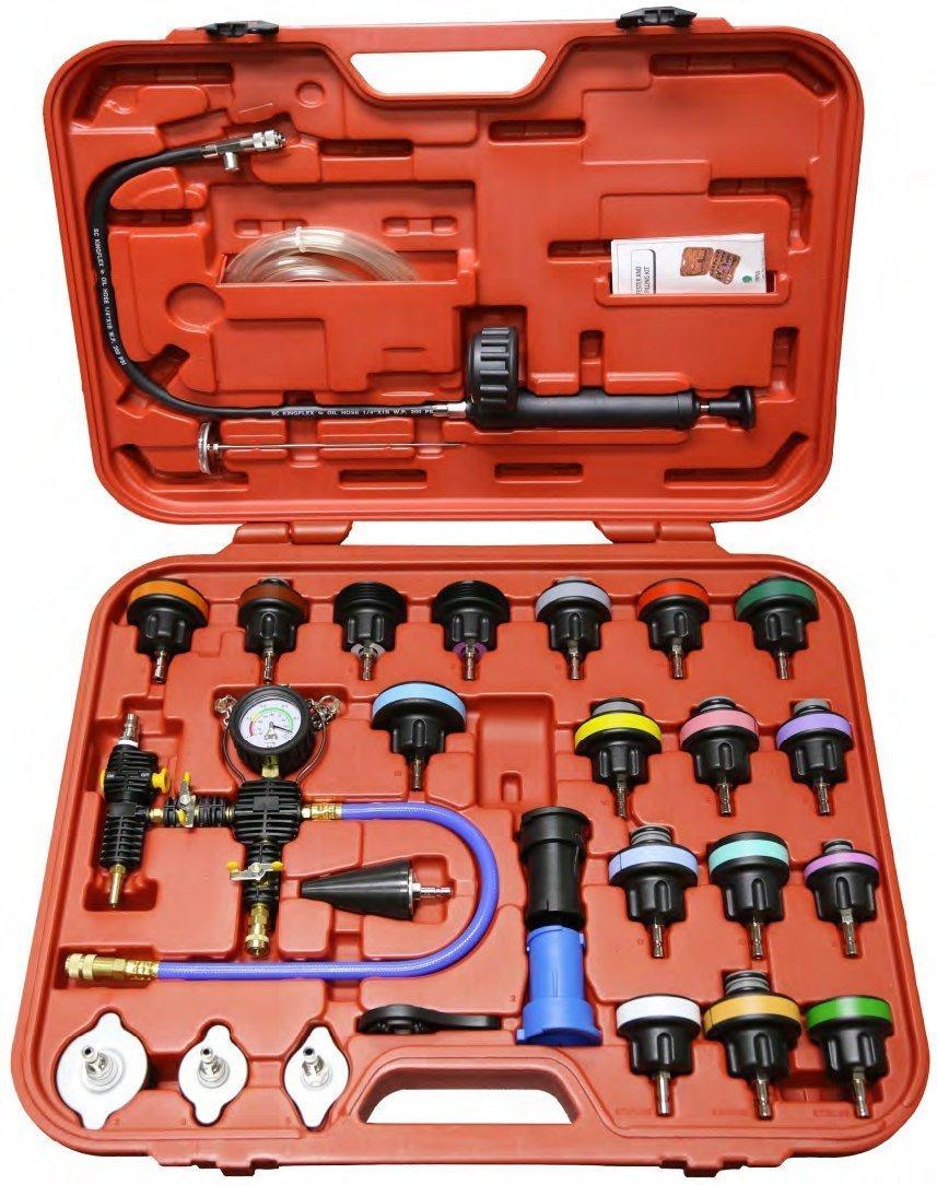 HanSemay Universal Radiator Pressure Detector Vacuum Cooling System Tester Master Tool Kit 28pcs/set