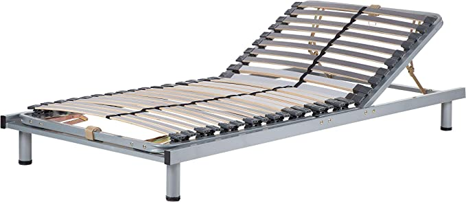 Beliani Somier articulado Manual - Somier Regulable - 90x200 cm - Comfort