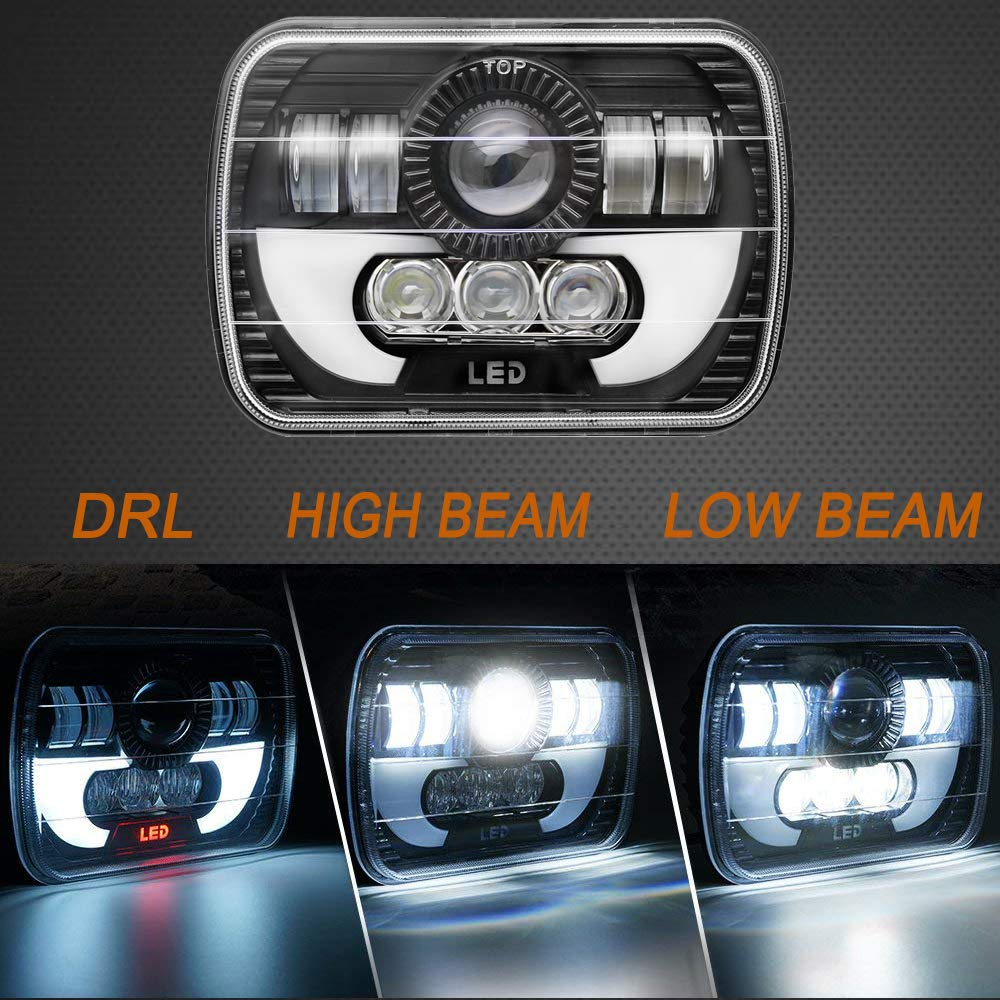 "7X6/"" 5x7/"" LED 120W Headlight Light Bulb DRL H4 Sealed Beam for Cherokee XJ"