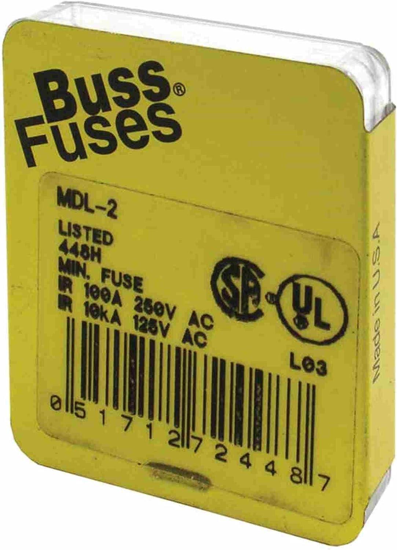 Lot Of 10 Buss MDL4 250V 4 Amp Time Delay 1//4 x 1-1//4 Bussmann Fuses Slo-Blo