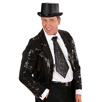 NET TOYS Lazo de Fiesta Negro Corbata de Gala Brillo aro Unisex ...