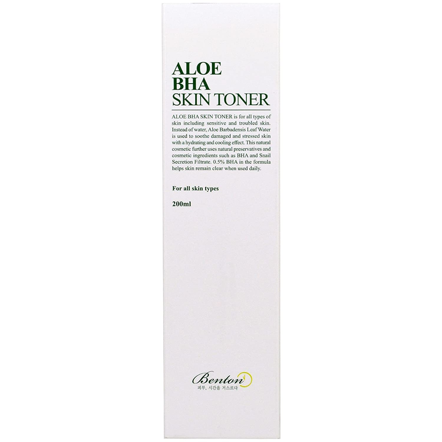 Benton Aloe BHA Skin Toner, 6.7 Ounce Mainspring America Inc. DBA Direct Cosmetics B00GAOBG3A