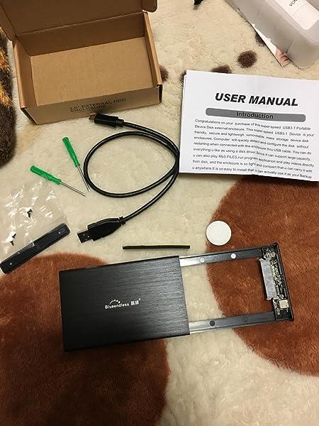 【USB3-1】2-5インチ-薄型軽量高放熱性アルミ-PC、Mac、レコーダー、XBox、PS4、PS4-pro、PS3、テレビ等適用-USB3-0ケーブル付属