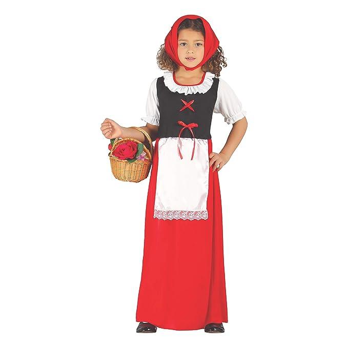 Disfraz de pastorcita roja infantil 3-4 años: Amazon.es ...