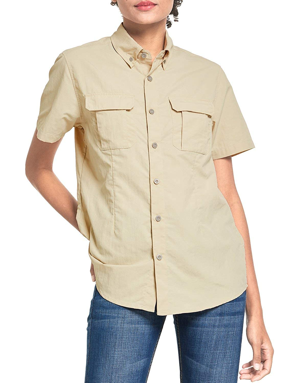 BALEAF Womens Hiking Long Sleeve Fishing Shirt UPF 50 for Safari Camping Travelling Quick Dry