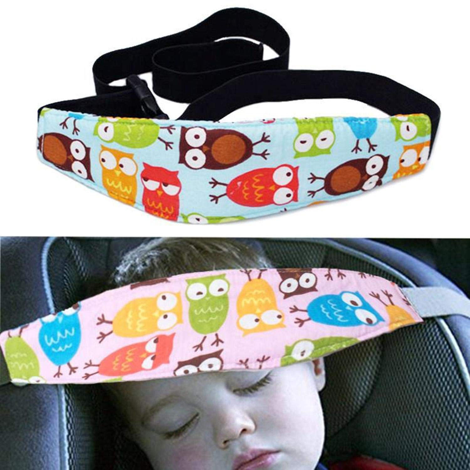 MelysUS Carseat Pillow for Toddler Baby Head Support Safety Car Seat Head Fixing Auxiliary Belt Safety