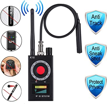 Handheld Radio Scanners Anti-Spy Wireless RF Signal Detector for Hidden Camera GSM Audio Bug Sweeper Finder Radio Scanner GPS Tracker US Plug