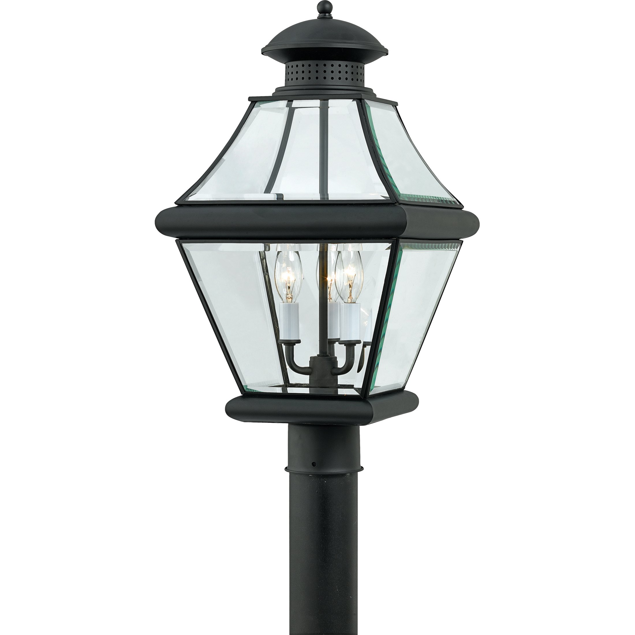 Quoizel RJ9011K Rutledge 3-Light Outdoor Wall Post Lantern, Mystic Black by Quoizel