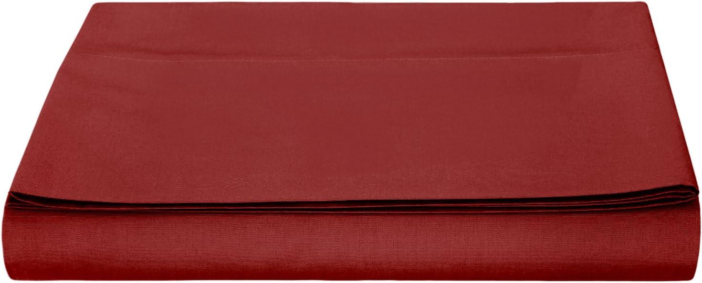 10 cm Basics 200-Thread-Count Polycotton Flat Sheet Light Brown 180 x 290