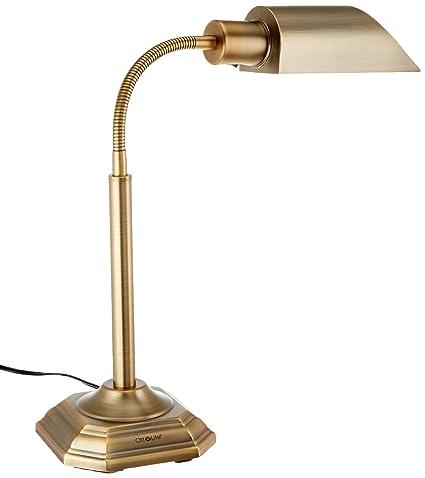 OttLite 20C15HB1 20-watt HD Alexander Table L& Honey Brass Finish  sc 1 st  Amazon.com & OttLite 20C15HB1 20-watt HD Alexander Table Lamp Honey Brass Finish ...