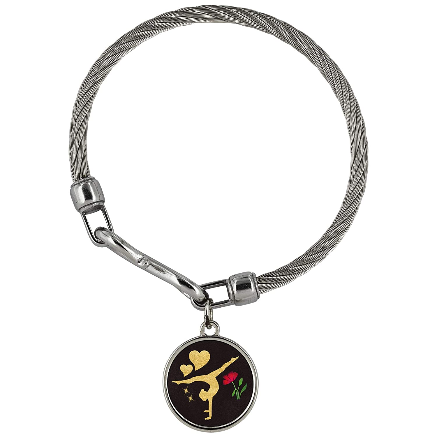 SmallWonderGifts Best Gymnastics Charm Bracelet for Girls and Women Cute Pendant Birthday Love Present with Pouch